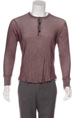 Todd Snyder Waffle Knit Henley Sweater