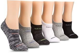 Calvin Klein Logo Sneaker Socks, Set of 6