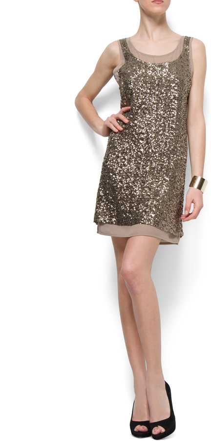 Sequins layered dress