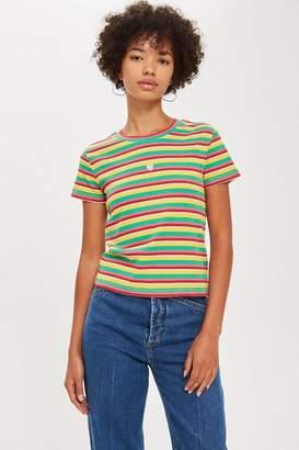 Topshop Heart Rainbow T-Shirt