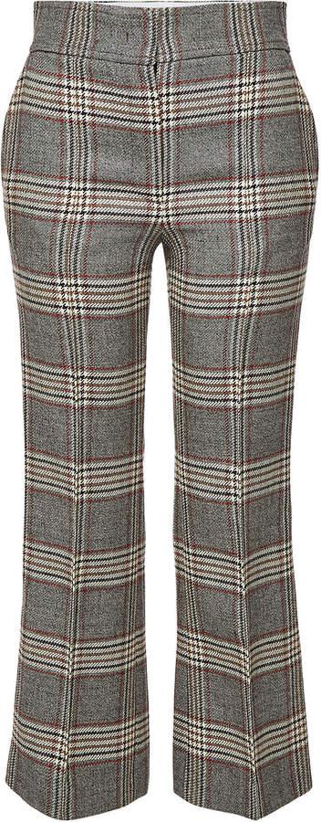 Ridge Checked Virgin Wool Pants