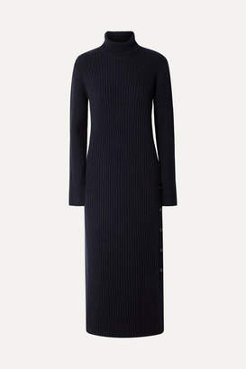 Marni Ribbed Wool Turtleneck Maxi Dress - Navy