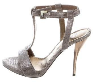 Lanvin Metallic Embossed Sandals