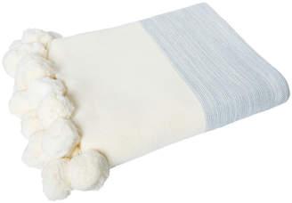 J.Elliot Calgary Knitted Cotton Pom Pom Throw