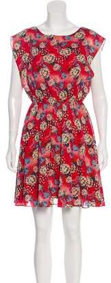 Alice + Olivia Floral Printed Silk Dress