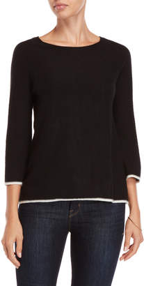 In Cashmere Three-Quarter Sleeve Cashmere Sweater