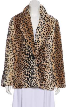 Waverly Grey Printed Faux Fur Jacket