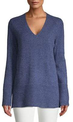 Lord & Taylor V-Neck Long Cashmere Sweater