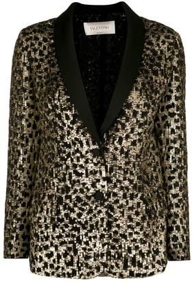 Valentino cheetah sequinned blazer jacket