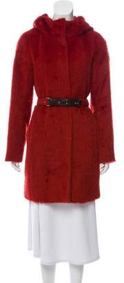 Max Mara 'S Hooded Alpaca Coat