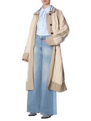 Maison Margiela Trench Coat With Knit Insert