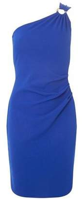 Dorothy Perkins Womens Cobat Hardware One Shoulder Bodycon Dress