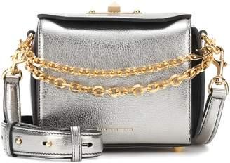 Alexander McQueen Box 16 metallic leather shoulder bag