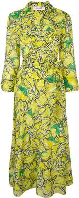 Diane von Furstenberg lemon print maxi dress