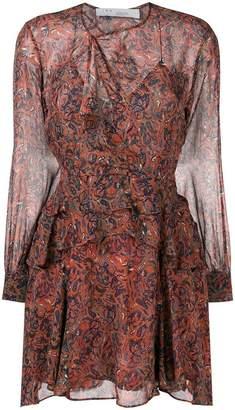 IRO printed ruffle dress