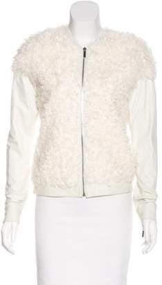 Thomas Wylde Leather & Mongolian Lamb Jacket