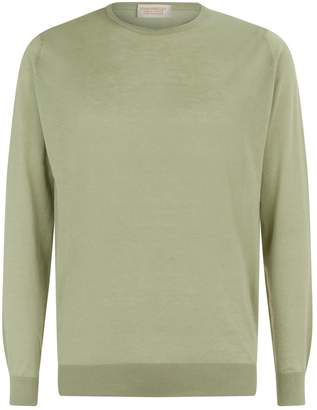 John Smedley Cotton-Cashmere Fine-Knit Sweater