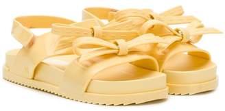 Mini Melissa bow detail sandals