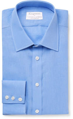 Turnbull & Asser Kingsman + Blue Linen Shirt