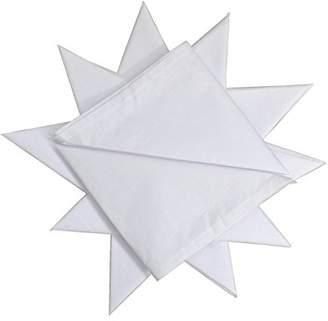 Dudu N Girlie Hemmed Stitch Men Cotton Handkerchief, 40 cm x 40 cm, 12-Piece