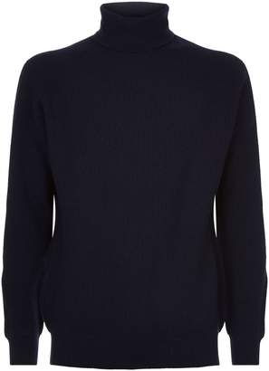 Johnstons of Elgin Ribbed Turtleneck Sweater