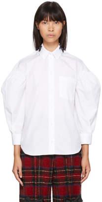 Simone Rocha White Beaded Drop Sleeves Shirt