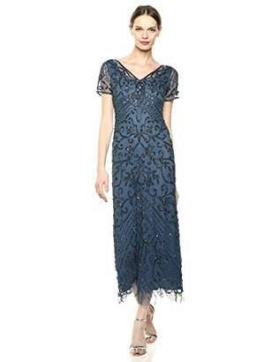 3d3eeeaa56149 $180.57 $180.88 Pisarro NightsWomen's Long V-Neck Dress with Beaded Motif