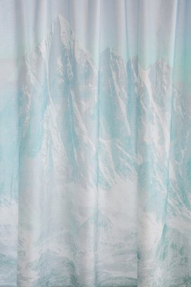 urban outfitters icy mountain shower curtain