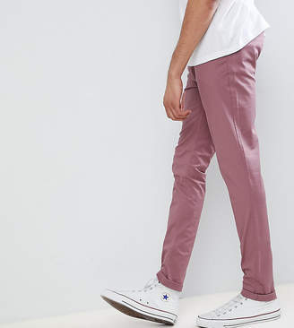 Asos DESIGN TALL Skinny Chinos In Purple Taupe