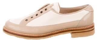 Gravati Leather Grommet Loafers