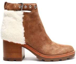 Sigerson Morrison Santiago Shearling-Paneled Suede Ankle Boots