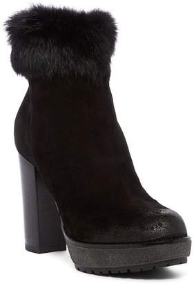 Manas Design Genuine Rabbit Fur Ankle Bootie