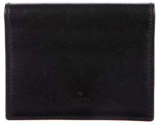 Gucci Leather Business Card Holder