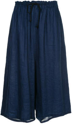Y's wide cropped trousers