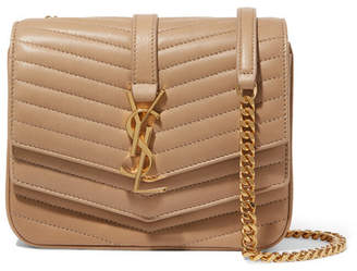 Saint Laurent Sulpice Small Quilted Leather Shoulder Bag - Beige