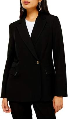 Topshop Remi Double-Breasted Suit Jacket
