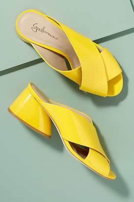 Guilhermina Cross-Strap Patent-Leather Mules