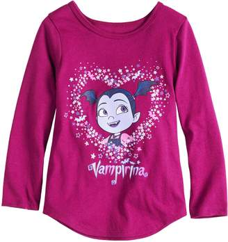 Toddler Girl Jumping Beans Vampirina Glittery Graphic Tee