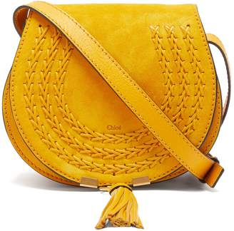 Chloé Marcie mini suede cross-body bag