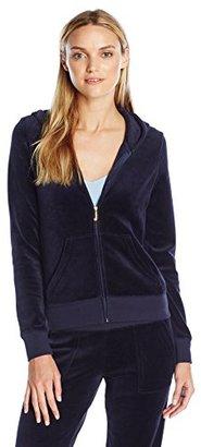 Juicy Couture Black Label Women's Logo Velour Sunburst Original Jacket $198 thestylecure.com