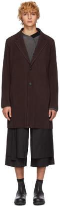 Issey Miyake Homme Plisse Purple Tailored Pleats Coat