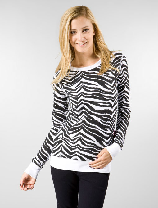 Primp Zebra Crew Thermal in White