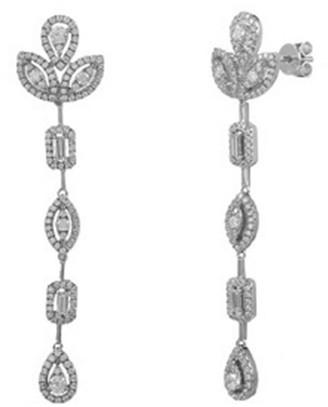 Diana M Fine Jewelry 14K 1.34 Ct. Tw. Diamond Drop Earrings