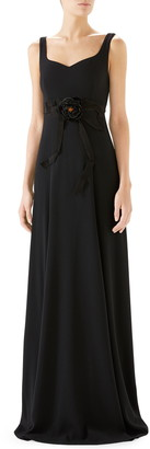 Gucci Bow Embellished A-Line Gown