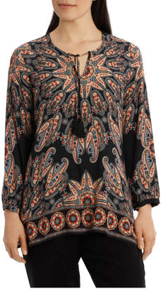 Jump 7/8 Printed Tassel Top