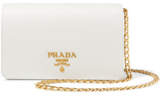 Prada - Textured-leather Shoulder Bag - White $1,190 thestylecure.com
