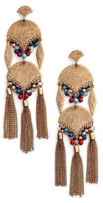 Women's Treasure & Bond Beaded Tassel Statement Earrings $39 thestylecure.com