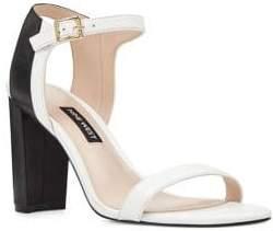 Nine West Nemble Leather Ankle-Strap Sandals