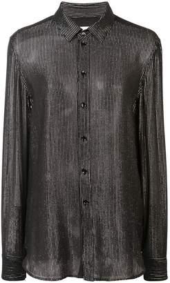 Saint Laurent vernished effect blouse