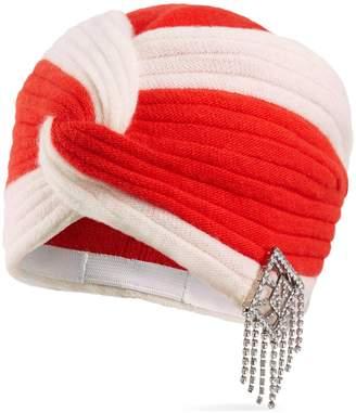 60e2f9a0f94 Gucci Wool headband with crystal Art Deco GG
